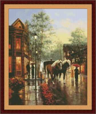 Купить со скидкой 0206 Весенний дождь - набор для вышивания (Юнона)