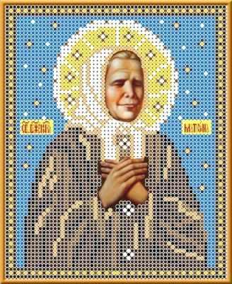 Основа для вышивания с нанесённым рисунком Каролинка КБИ 5027 Св Матрона Московская - схема для вышивания (Каролинка)