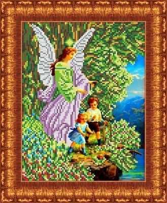 Основа для вышивания с нанесённым рисунком Каролинка КБА 4006 Ангел и дети - схема для вышивания (Каролинка)