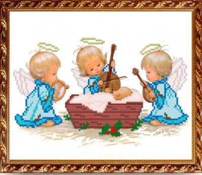 Основа для вышивания с нанесённым рисунком Art Solo VKA4016А С Рождением мальчика - схема для вышивания (Art Solo)