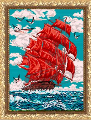 Основа для вышивания с нанесённым рисунком Art Solo VKA3048 Алые паруса - схема для вышивания (Art Solo) махаон алые паруса а грин machaon