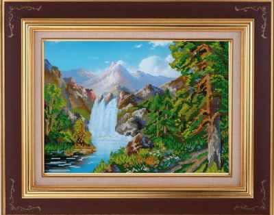 Купить со скидкой НИК 9795 Горный пейзаж - рисунок на ткани