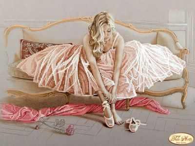 Основа для вышивания с нанесённым рисунком Tela Artis ТА-149(2) - Балерина - схема для вышивания (Tela Artis)
