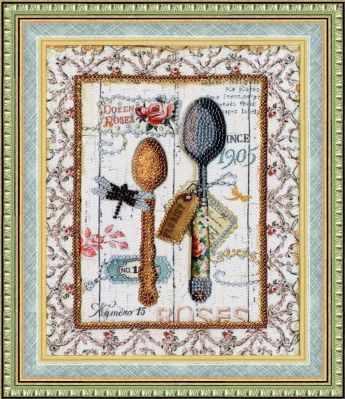 Набор для вышивания Золотое Руно РТ-094 Стильная кухня. Ложки. Рисунок на ткани