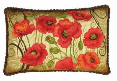 Набор для вышивания Риолис (Сотвори Сама) 1433 Подушка Восточные маки риолис набор для вышивания 1775 розовые маки