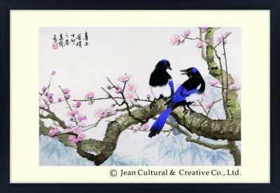 2800101 Сороки на сливовом дереве  набор (Xiu Crafts) - Наборы для вышивания «Xiu Crafts»
