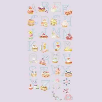 ABCPAT/GRI Большой алфавит  Пирожные  (ПВ) - Наборы для вышивания «Парижские Вышивальщицы»