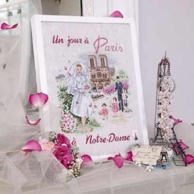SKJPNDL/JOU  День в Париже: Нотр Дам  (ПВ) - Наборы для вышивания «Парижские Вышивальщицы»