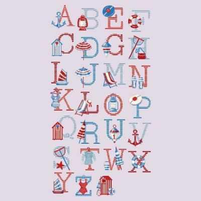ABCR/GRI Большой алфавит  Море  (ПВ) - Наборы для вышивания «Парижские Вышивальщицы»