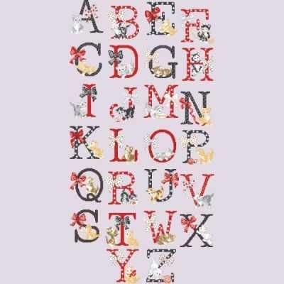 Набор для вышивания Парижские Вышивальщицы ABCCH/GRI Большой алфавит