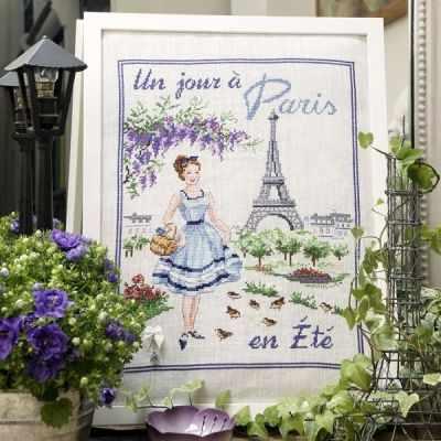 SKJPEA/JOU  Летний день в Париже  (ПВ) - Наборы для вышивания «Парижские Вышивальщицы»