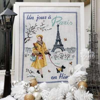SKJPHA/JOU  Зимний день в Париже  (ПВ) - Наборы для вышивания «Парижские Вышивальщицы»