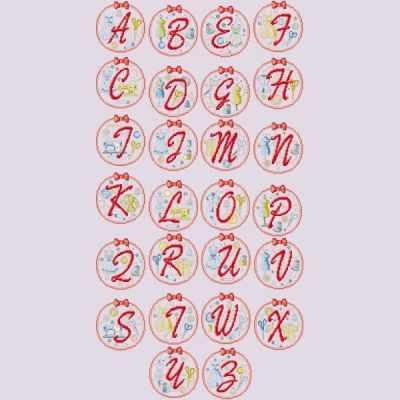 ABCCO/GRI Большой алфавит  В стиле пятидесятых  (ПВ) - Наборы для вышивания «Парижские Вышивальщицы»