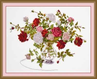 Набор для вышивания Овен 812 Букет роз набор для вышивания крестом rto букет хризантем 50 х 40 см