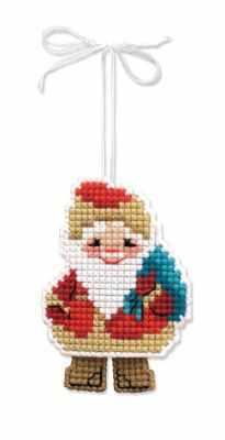 Набор для вышивания Риолис (Сотвори Сама) 1538АС Новогодняя игрушка Дедушка мороз