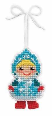 Набор для вышивания Риолис (Сотвори Сама) 1539АС Новогодняя игрушка Снегурочка