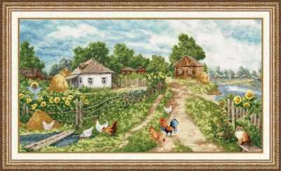 Набор для вышивания Золотое Руно МД-014 Деревенька