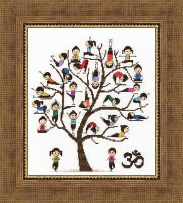 Набор для вышивания Золотое Руно ЛЖ-005 Уроки йоги. Линия жизни