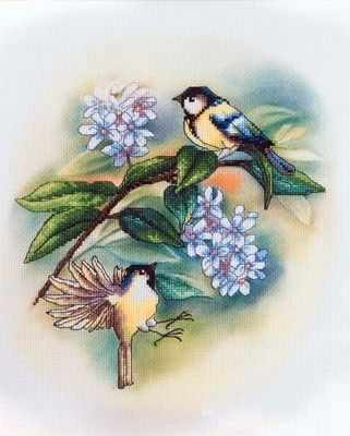 Набор для вышивания ORCHIDEA OR 8170 Синицы и черёмуха набор для вышивания подушки полным крестом orchidea 9350 разноцветный 40 х 40 см