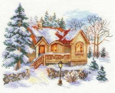 3-22 Февральский домик - Наборы для вышивания «Алиса»