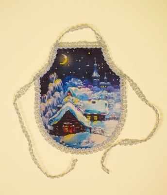 8271 Зимняя ночь - фартук набор (МП)