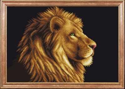КС-019 Лев  Магия канвы - Рисунки на ткани «Магия канвы»
