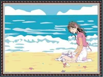Набор для раскрашивания по номерам Menglei ME076 На берегу океана - раскраска (Menglei)