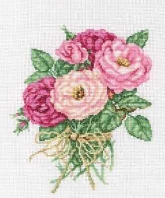 Набор для вышивания РТО М563 Букетик роз аксессуар для упаковки букетик белый