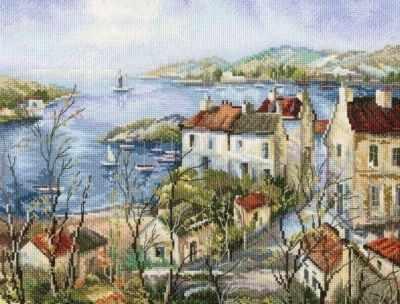 Набор для вышивания РТО М554 Тихий город у моря