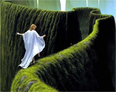 Зеленый лабиринт (АЖ-1185)  картина стразами - Мозаика из страз «Алмазная живопись»