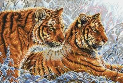 2333-14 Амурские тигры (Белоснежка) - Наборы для вышивания «Белоснежка»