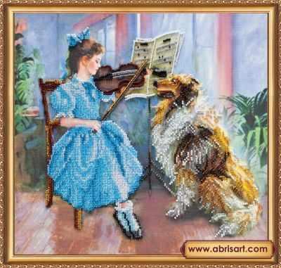 Фото - Набор для вышивания Абрис Арт АВ-393 Маленький концерт набор для вышивания абрис арт ав 687 чеширский кот