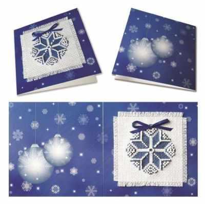 Набор для вышивания Zengana М-002 Рождественская звезда (синяя) - открытка