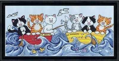 2858 Кошки-моряки (Design Works) - Наборы для вышивания «Design Works»