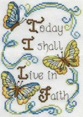 Набор для вышивания Design Works 2895 Живи в вере