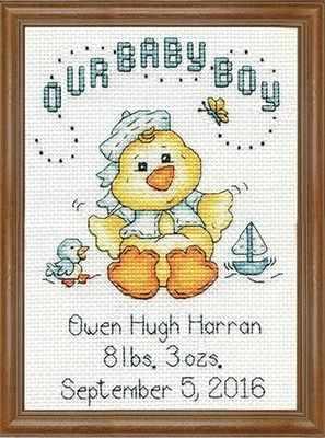 Набор для вышивания Design Works 2897 Мальчик цыпленок