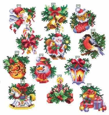 Набор для вышивания Сделай своими руками Н-17 Новогодние игрушки
