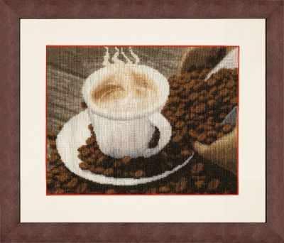 Набор для вышивания Золотое Руно СЖ-040 Ароматный кофе. Стиль жизни
