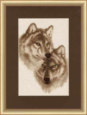 Фото - Набор для вышивания Золотое Руно ДЖ-037 Влюбленные волки. Дикие животные набор для вышивания золотое руно гм 037 булгаковская осень