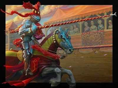 O-577 Рыцарь  мозаика Милато - Мозаика «Milato»