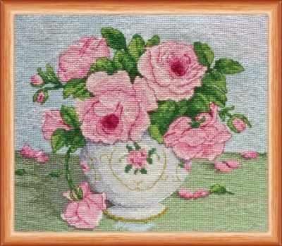 АН-014  Розовые цветы  - Наборы для вышивания «Абрис-Арт»