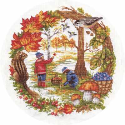 Фото - Набор для вышивания Panna Д-1390 Осенние хлопоты набор для вышивания acufactum осенние