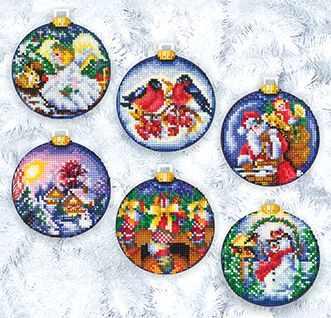 Набор для вышивания Сделай своими руками Н-18 Новогодние шары