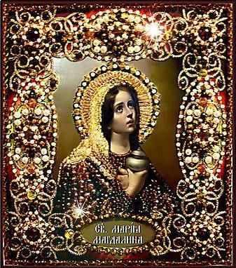 Набор для вышивания иконы Образа в каменьях 77-и-09 Святая Мария