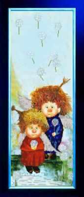 НИК 9849 Ангелочки - рисунок на ткани