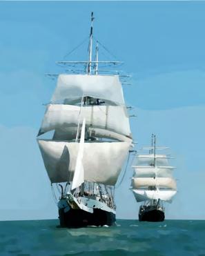 Набор для раскрашивания по номерам Русская живопись A027 Корабли в море