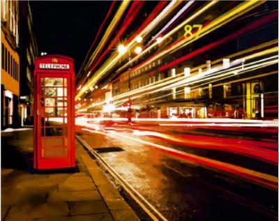 D003 Ночной Лондон - Раскраски «Русская живопись»