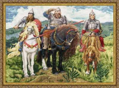 Набор для вышивания Золотое Руно МК-035 Три богатыря (по мот. карт. В.Васнецова)