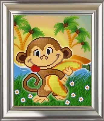 Основа для вышивания с нанесённым рисунком Велисса ДС-569 Веселая обезьянка - схема (Велисса)