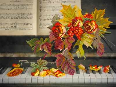 4168 Музыка роз - рисунок на шелке (МП)